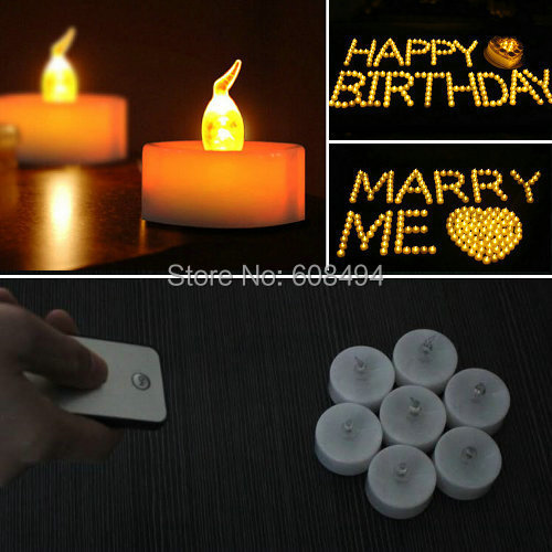 48pcs lot remote controlled LED candle light w controller cell operate tea light wedding birthday Xmas