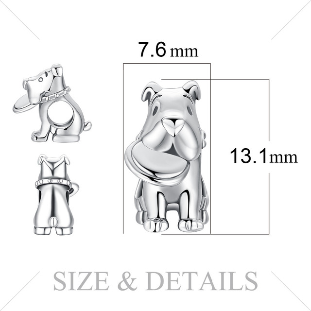 JewelryPalace 925 Sterling Silver Pet Love frisbee dog Charm Beads Beautiful Gifts 2018 New Hot Sale For Women Fashion Jewelry