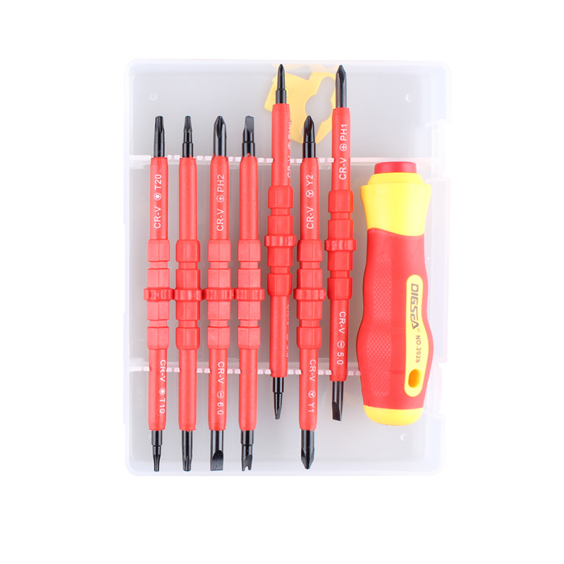 NEWACALOX 15 In 1 Repair Tool Kit Double Head Magnetic Precision Screwdriver Set for Laptop Phone with Torx Cross Flat Y U-Shape