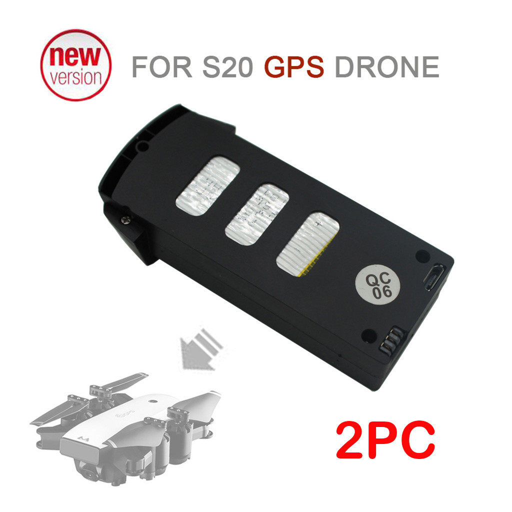 2019 Portable  Suitable  Charging 2PC Upgrade Backup Flight Li po Battery 7.4V 900mAh For SMRC S20  RC Drone Accessories-in Parts & Accessories from Toys & Hobbies