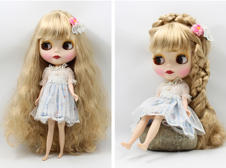 Dolls Dolls & Stuffed Toys Enthusiastic Factory Blyth Doll 280bl053813 Long Wavy Golden Hair With Bangs 4 Colors For Eyes Body Changeable
