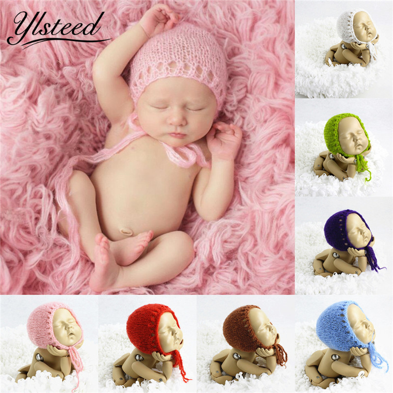 New Baby Mohair Hat Newborn Photography Hats Accessories Crochet Baby Boy Girl Caps Knitted Infant Beanies Baby Photo Props 2016 new warm cotton baby hat girl boy toddler infant kids caps soft cute hats cap beanie baby beanies accessories d1