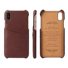 100% Genuine Leather Back Cover Case for Apple iPhone 6 6S 7 8 Plus X XS Brand New Original with Card Slots Top Quality brand new japan genuine floating joint ja15 6 100