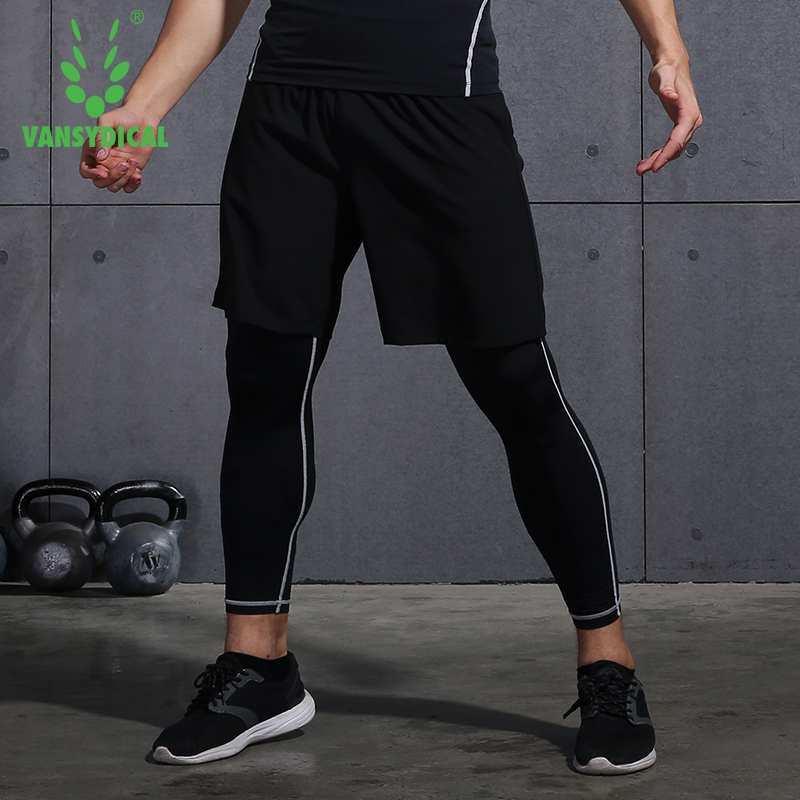 Vansydical Brand Running Tights Men Sports Leggings Sportswear Yoga Trousers Pants Plus Size Fitness Compression Sexy Gym 2019 Running Tights Pants Brandpants Plus Aliexpress