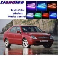 LiandLee Auto Glow Interieur Floor Decoratieve Sfeer Zetels Accent Ambient Neon licht Voor Citroen Xsara Picasso