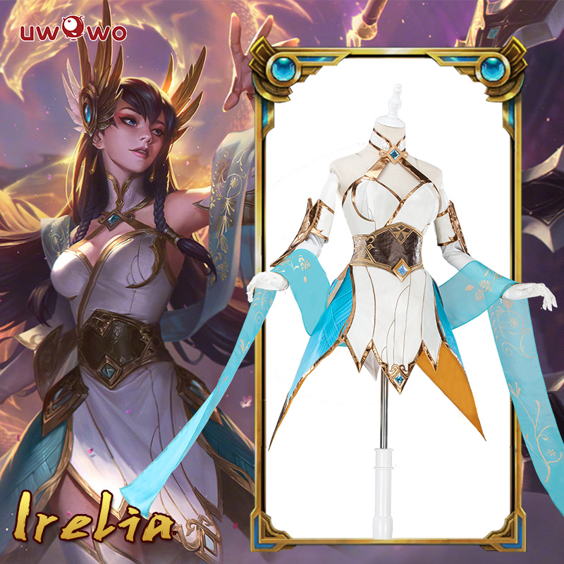 Irelia LOL Cosplay Lol Divine Sword Irelia Cosplay Costume Dress Female Irelia Cosplay Wig