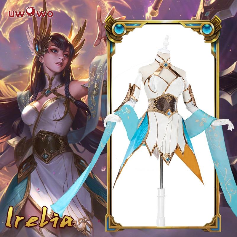 Irelia LOL Cosplay Lol Divine Sword Irelia Cosplay Costume Dress Female Irelia Cosplay Wig