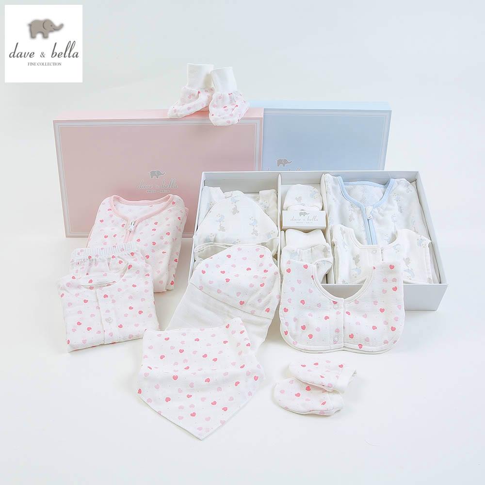 DB4902 dave bella spring autumn newborn baby set children infant set baby clothes baby cotton suits