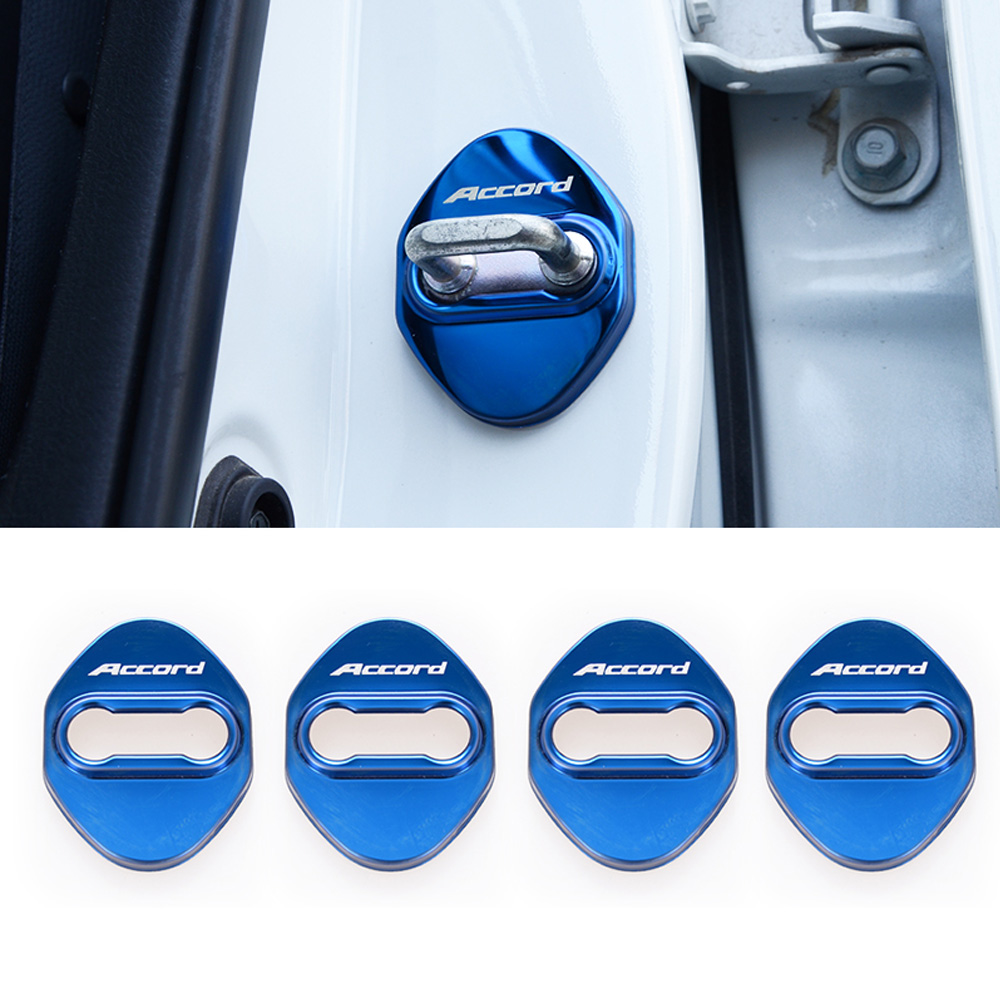 Stainless steel Car Accessories door lock buckle protector cover trim sticker for <font><b>Honda</b></font> <font><b>Accord</b></font> 10th 2018 <font><b>2019</b></font> car styling image