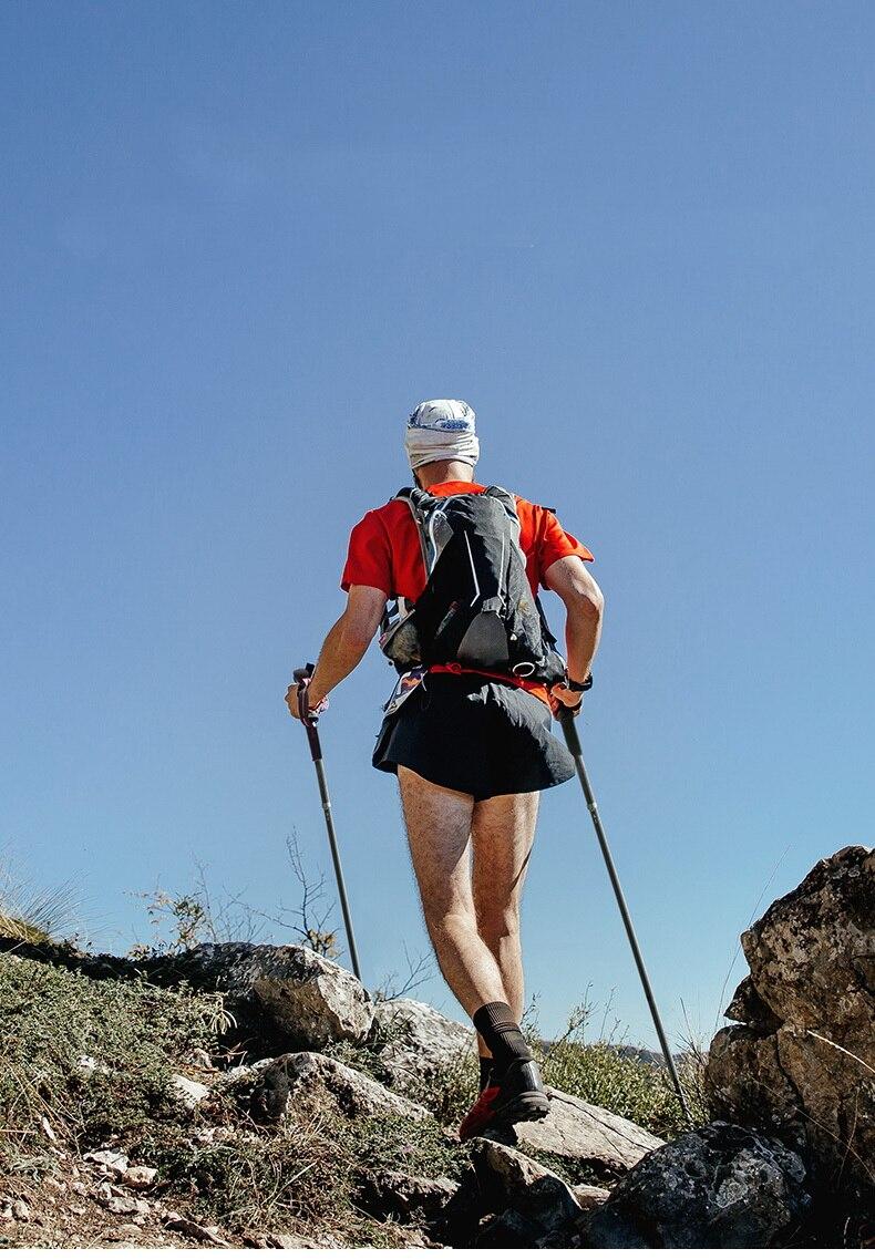 trekking pólos aço tungstênio bengala trilha correndo caminhadas alpenstock s153g