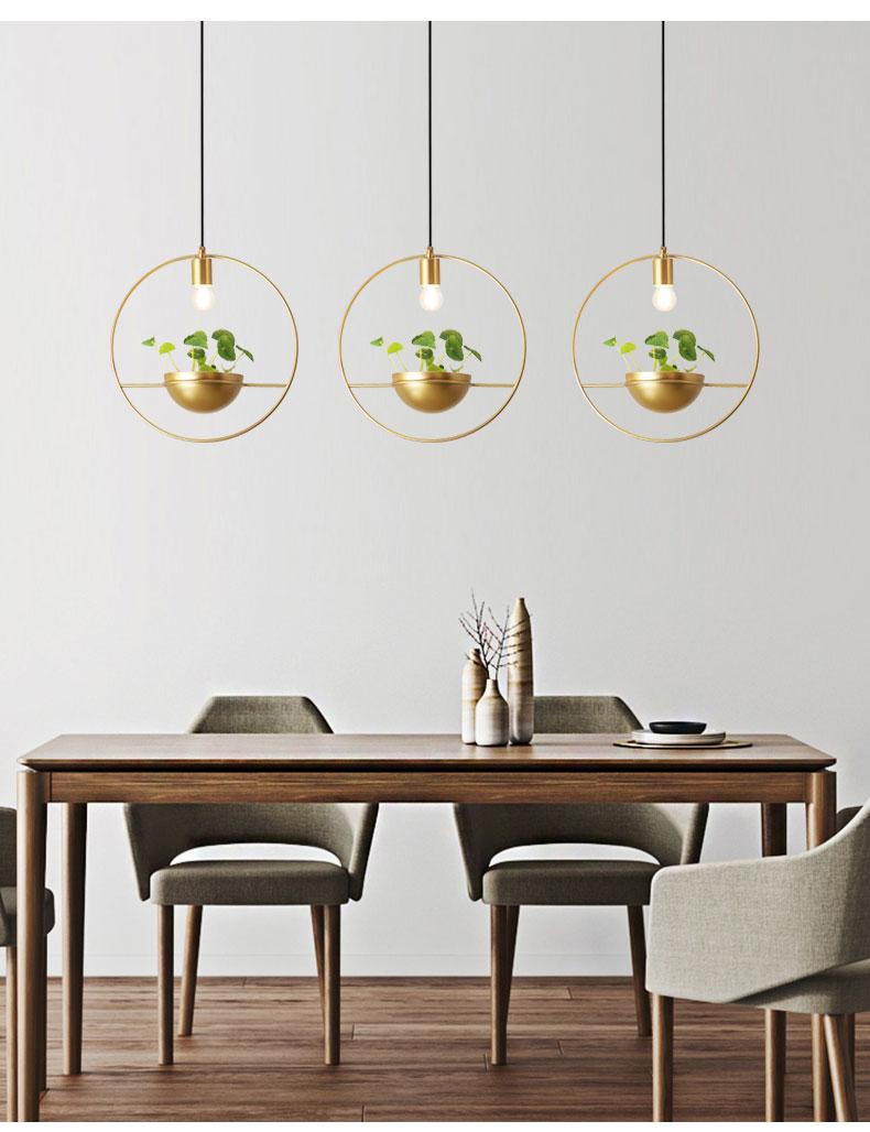 北欧餐厅灯简约创意个性吧台单头床头奶茶店服装店小吊灯植物灯具-tmall_07