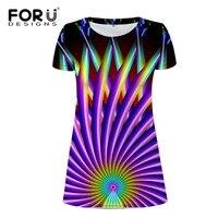 FORUDESIGNS 3D Funny Women Dress Novelty Short Sleeve Dress Sundress Ladies Daily Casual Summer Dress Vestidos