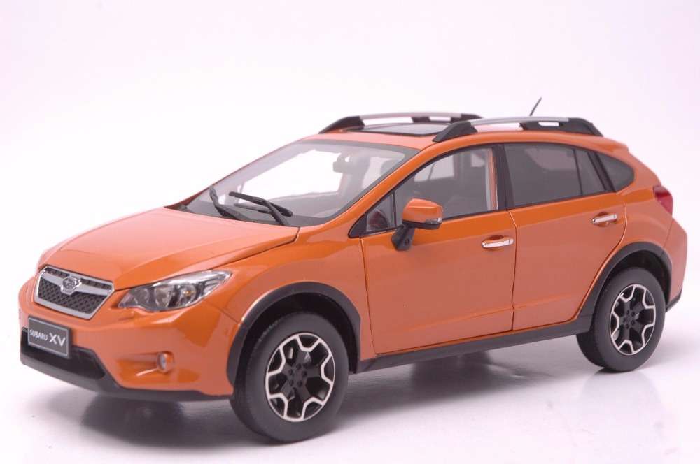 1:18 Diecast Model for Subaru XV 2016 Orange SUV Alloy Toy Car Miniature Collection Gifts 1 18 diecast model for volvo v60 2016 blue suv alloy toy car collection