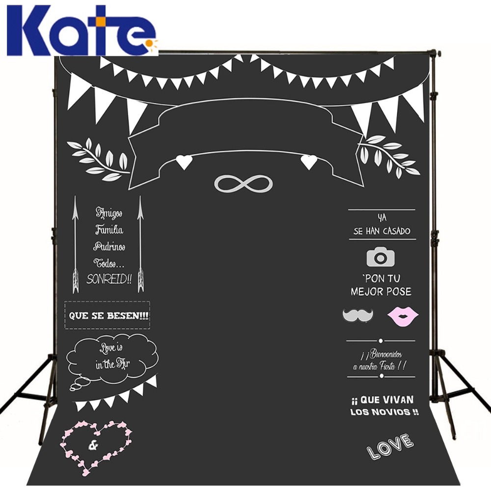 Kate Wedding Backdrops Blackboard for Photo Studio Wedding Background Photography Customise size made fotostudio photocall