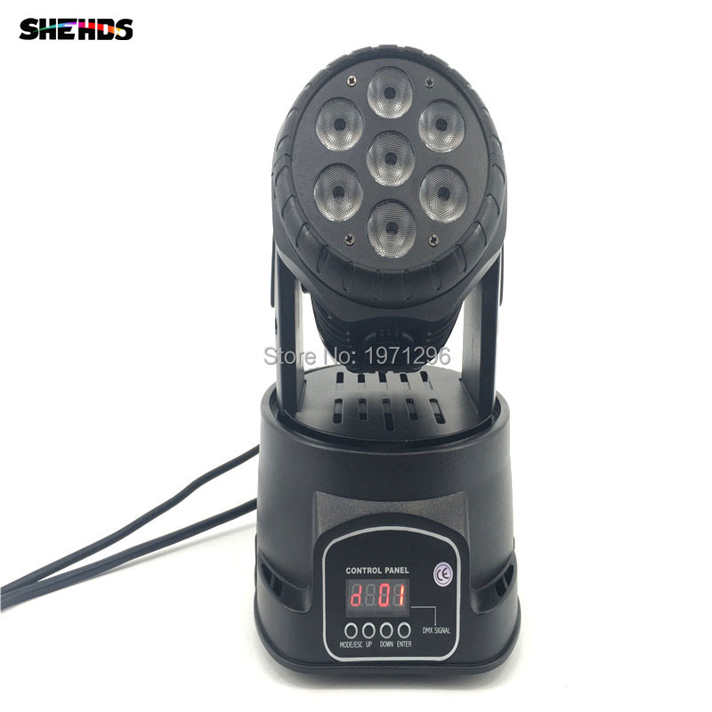 2pcs/lot Fast Shipping LED Moving Head Mini Wash 7x12w RGBW Quad With Advanced 10/15 Channels Factory Directly Sale Free Shpping
