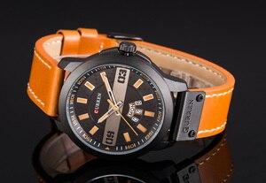 Image 3 - עסקי האופנה CURREN גברים שעונים עמיד למים שעון יד קוורץ זכר שעון Relogio Masculino שבוע תאריך התצוגה Montre Homme
