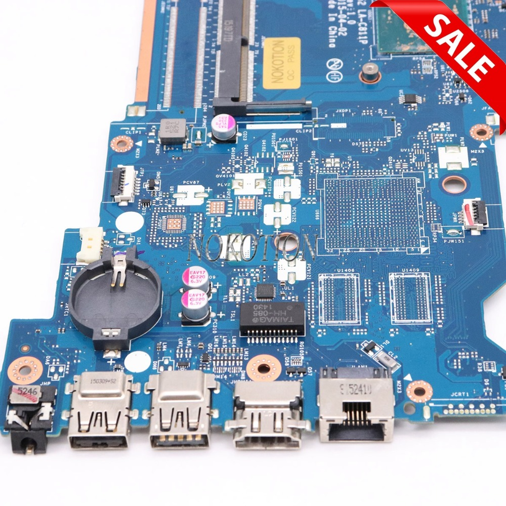 NOKOTION 815248-501 815248-001 материнская плата для ноутбука hp 15-AC основная плата ABQ52 LA-C811P полный тест