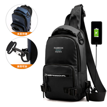 Fashion Backpack Knapsack for Men Nylon Military Cross body Chest Bags with USB Charging Port Men Messenger Sling Rucksack Bag