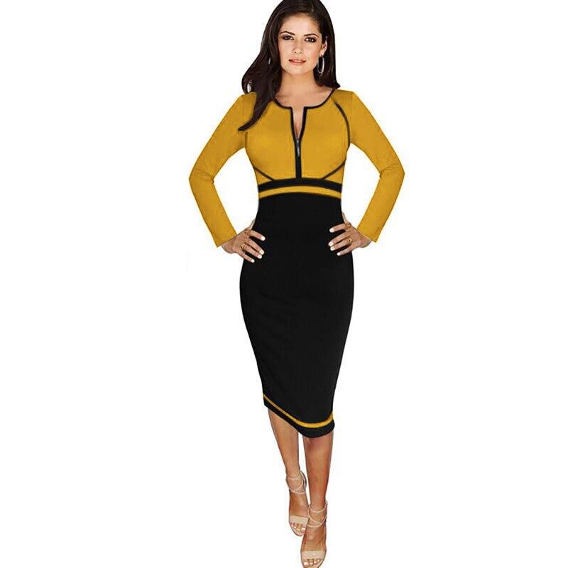 Aliexpress.com : Buy Women's Long Sleeve Color Block High Waist ...