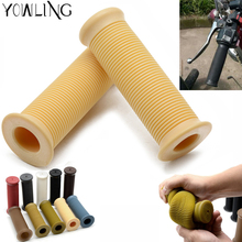 7/8 22mm Motorcycle Hand Grips Handle Rubber Bar Gel Grip Retro Rubber Motorcycle Bike Vintage Coke Bottle Hand Grip x 2pcs vodool 2pcs rubber motorcycle grip 22mm motorcycle vintage handlebar grip for all motorcycle high quality cars styling