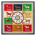 60cm * 60cm twill silk classic H Horses Ms. silk scarves small square