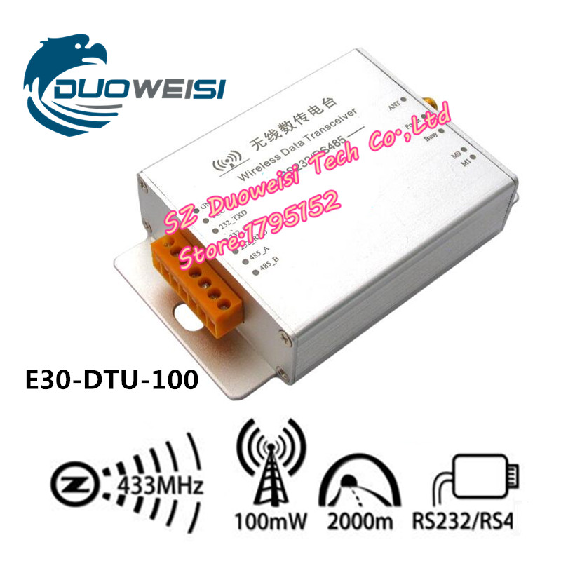 E30-DTU-100 RS232 / RS485 interfaces 433M wireless module | transparent transmission to serial | sensor data radio DTU extra low power embedded data radio modem data transmission module for arduino