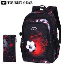 Mochila escolar de fútbol estampada para niños, bolsa de viaje, mochilas escolares para adolescentes