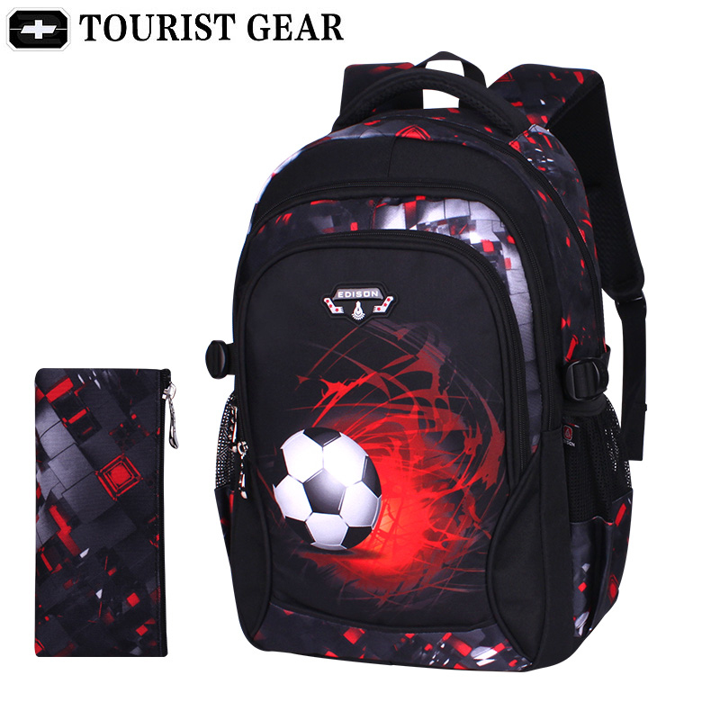 Travel-Bag Mochila Football-Schoolbag Anime Backpack Soccers Teenage Printing Boys No title=
