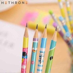 Image 5 - Hethrone 12 sztuk zwierząt drewniane ołówki dla uczeń pisanie zestaw ołówków kredki szkic grafitowe lapices szkolne