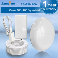 Sanqino Cell Cellphone Sign Booster GSM 900MHZ Cell Cellphone Booster Amplifier Repeater+ Out of doors Antenna with 10M Cable