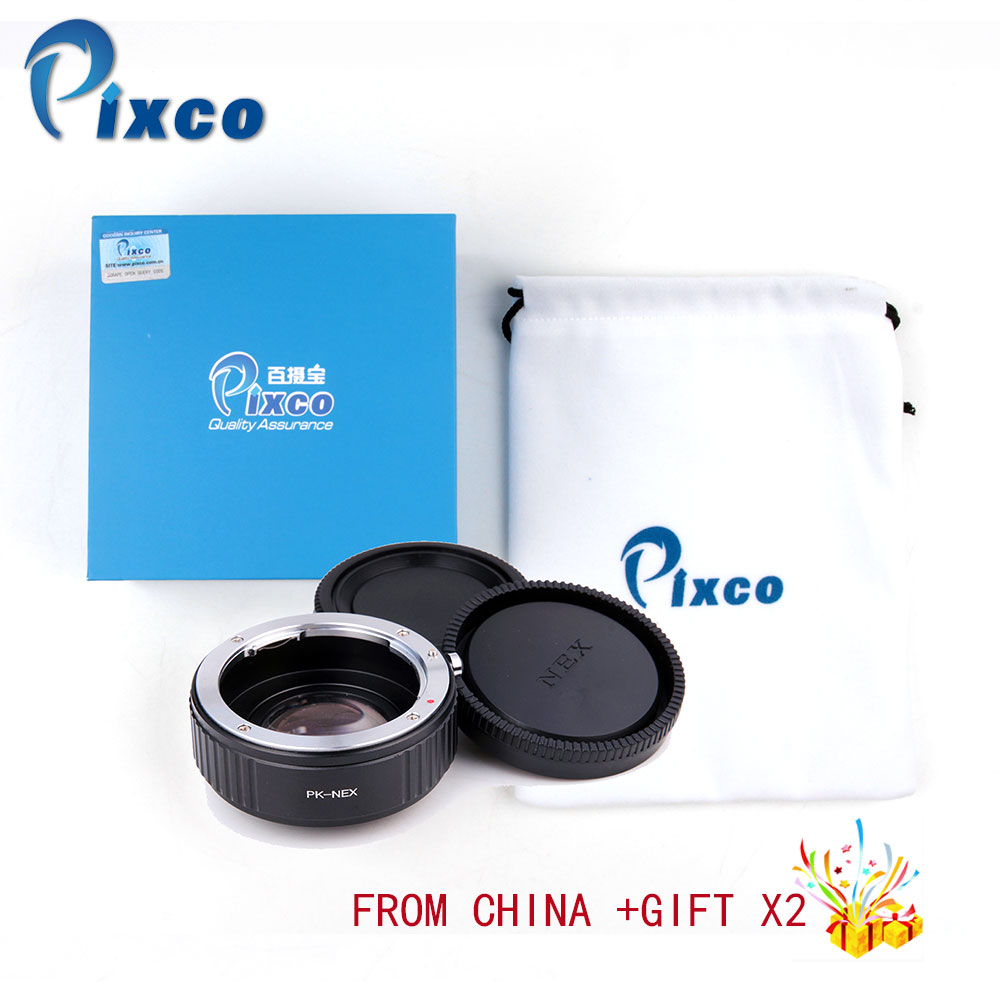 Pixco Focal Reducer Speed Booster Lens Mount Adapter Suit For Pentax K PK Lens to Sony E Mount Camera NEX A5000 A3000 цены