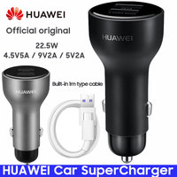 HUAWEI Car SuperCharger P20 Mate 9 10 Pro V10 Original Honor Super Charge Fast Car Charger Quick Adapter 5A Type c Cable Type C