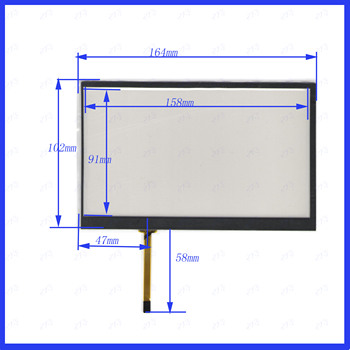 ZhiYuSun 7191 NEW 7 inch 164mm*102mm 4 wire Universal LCD Touch Screen Panel Digitizer CAR GPS 164*102