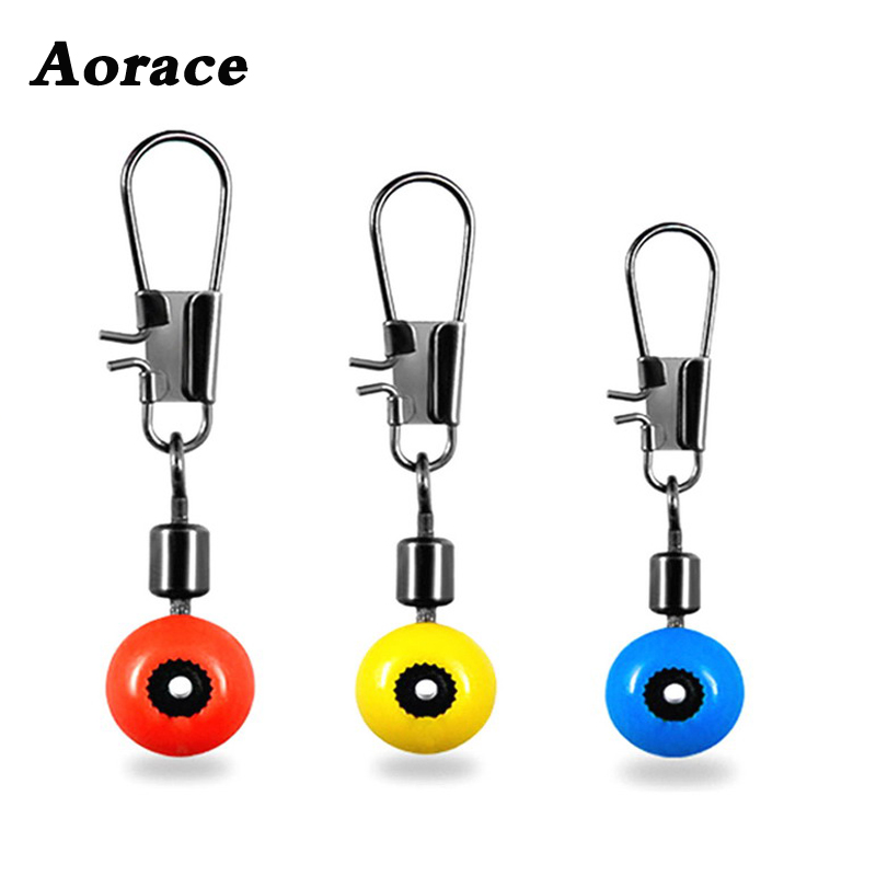 20 Pcs Fishing Line To Hook Swivels Shank Clip Connector Interlock Snap Sea Space Bean Lure Fishing Accessories