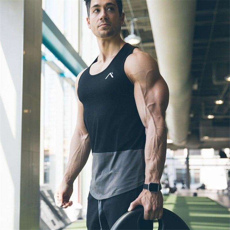 2018 Sommer Neueste Tank Top Männer Neue Turnhallen Kleidung Bodybuilding Fitness Workout Muskel Männer Weste Sportswear Unterhemd