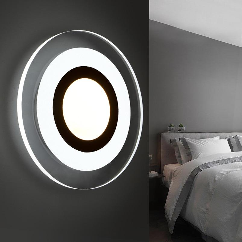 Naujos mados vadovaujamos sieninės lempos, akrilo liemenėlė, 10v - Vidinis apšvietimas - Nuotrauka 1