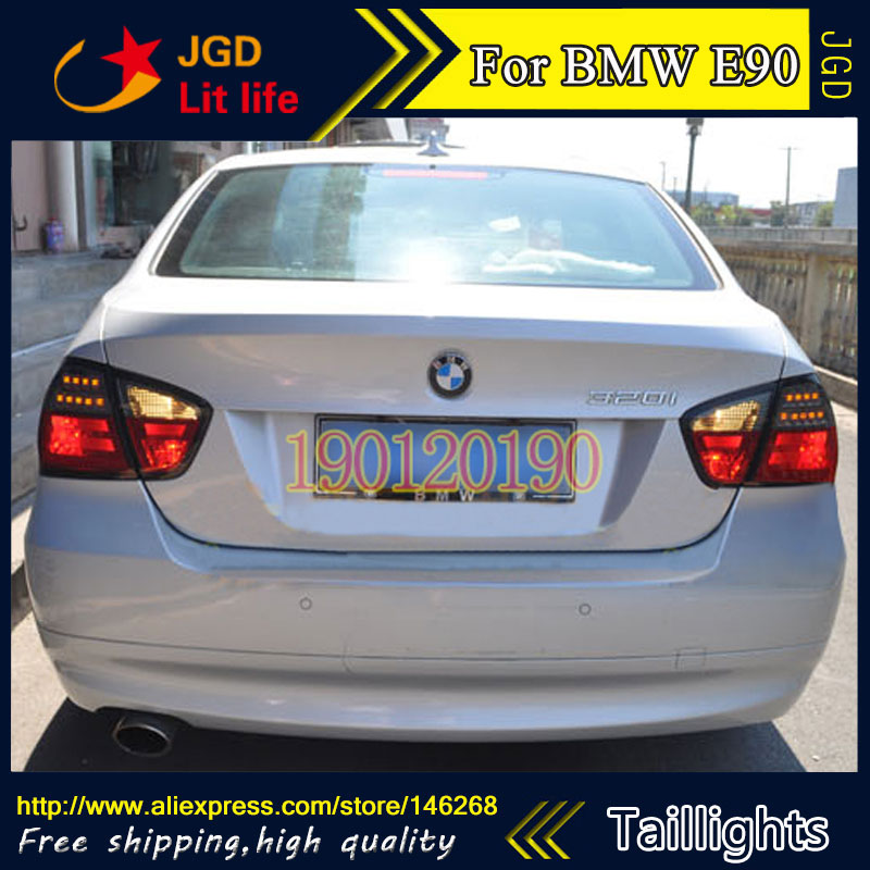 tail lights for BMW E90 316i 318i 320i 325i 2005 2008 LED taillight Tail Lamp rear trunk lamp cover drl+signal+brake+reverse