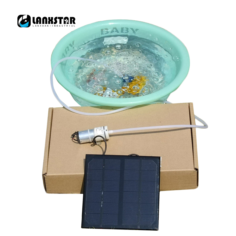 Super DIY Mobile Solar Power 370 Air Pump Phone Charging Green Portable Oxygen Tank Pump Strong Solar Driver 385 Water Pump ...