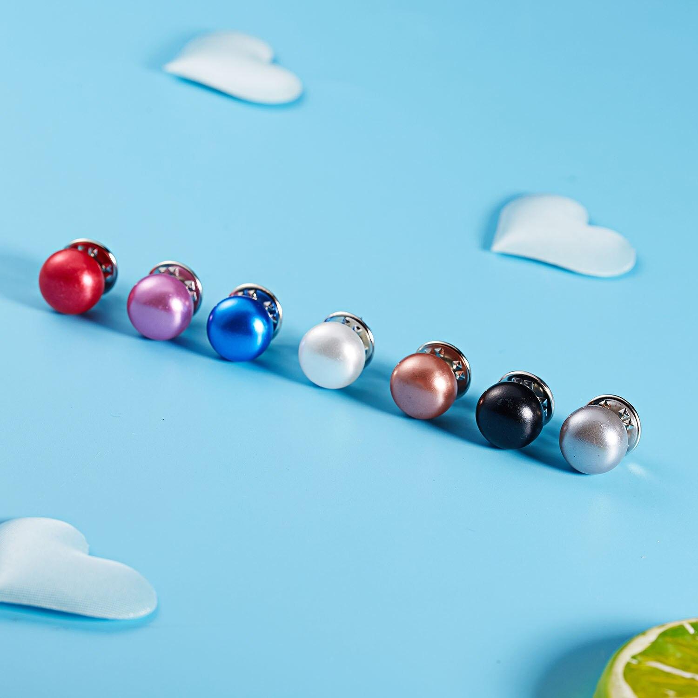 RINHOO Горячая 1 шт имитация жемчуга круг брошь PU Кнопка для женщин Циркон Модные броши красочные