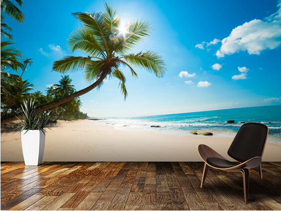 Free Fall Wallpaper And Screensavers Custom Nature Wallpaper Tropical Beach 3d Photo Murals For