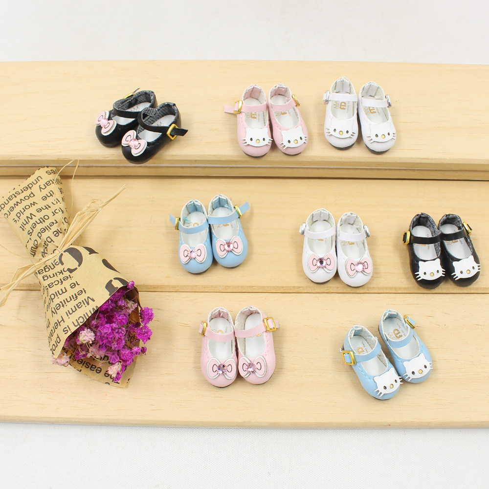 Free Shipping Blyth Doll Icy Joint Body Shoes Kitty Bow 2.5cm Gift Toy