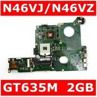 N46VJ GT635M 2G Mainboard REV 2.3 Para ASUS N46V N46VJ N46VM N46VZ N46VB Laptop USB 3.0 Motherboard 100% Testado