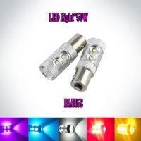 2x 1156 PY21W S25 BAU15S 50W Ultra Bright Turn Signal Parking Lights Car Styling Amber Yellow