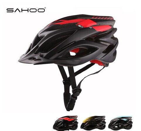 SAHOO Cycling Helmet Carbon Fiber + EPS Super Light Bicycle Helmet 23 Air Vents MTB Road Bike Helmet Casco Bicicleta W/ Visor sahoo 21255 sa
