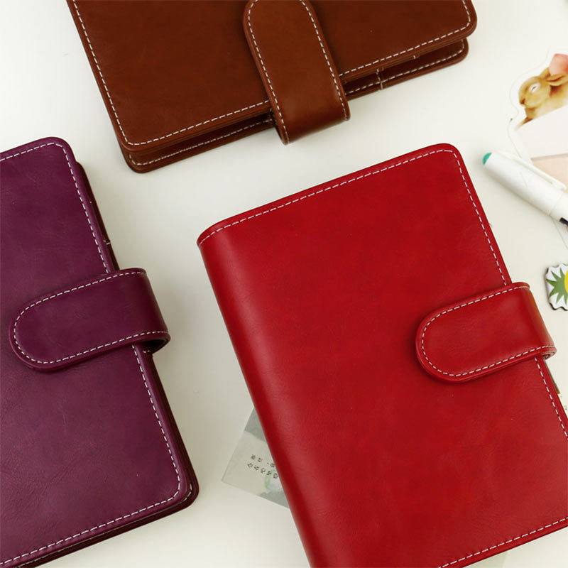 Image 4 - 2017 Vintage Leather Notebook A5 A6 Retro PU Notebook Dairy Personal Planner Agenda with 25mm Dia Ring Office & School Supplies-in Notebooks from Office & School Supplies