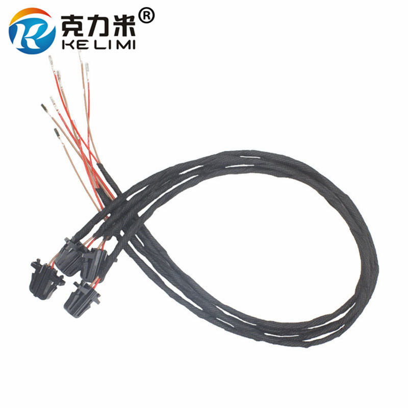 KELIMI 4 Pieces 50cm OEM Door Warning Light extension Wires Cable/Harness/Connector/Sockets For Volkswagen Golf MK5 Passat