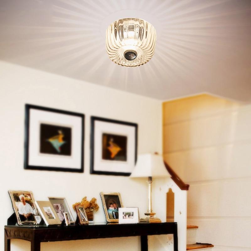 Led Clear Glass ceiling lights sun flower aisle corridor Surface Mount led lighting for home restaurant ktv decoration luminaire