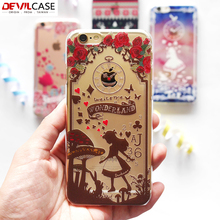 DEVILCASE Alice & Christmas Series Plastic Back Case For iPhone 6 6s 5H Hardness Ultra Thin Fashion Protective Cover For iPhone6
