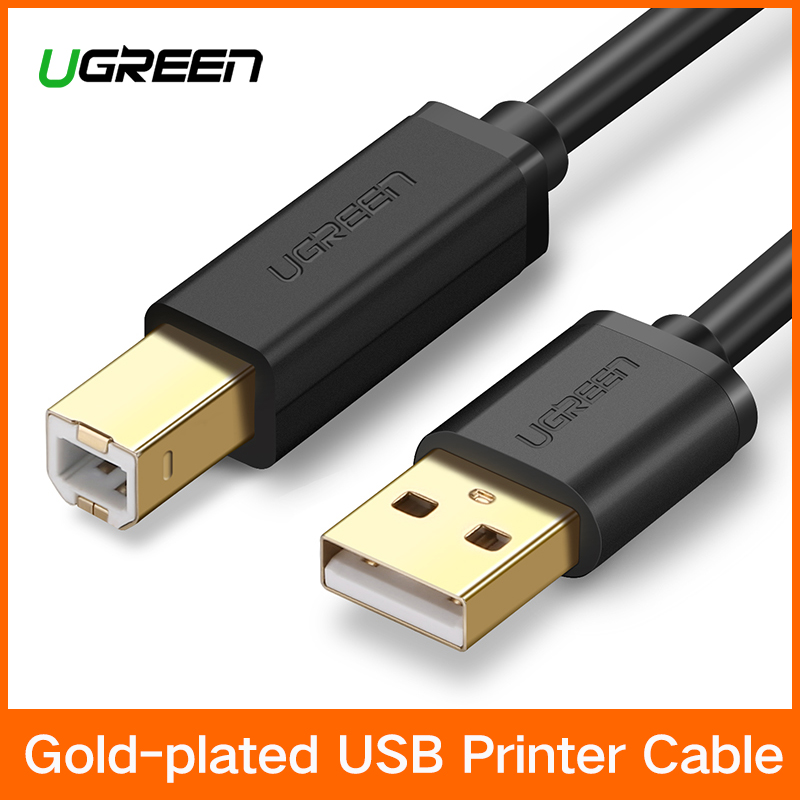 цена на Ugreen USB Printer Cable USB Type B Male to A Male USB 3.0 2.0 Cable for Canon Epson HP ZJiang Label Printer DAC USB Printer
