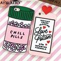 Moda 3D Sweet Love Polion Pílulas Frio de Borracha Macio Bonito de Volta cobrir para apple iphone 6 6 s 4.7 ''funny silicone phone case Shell